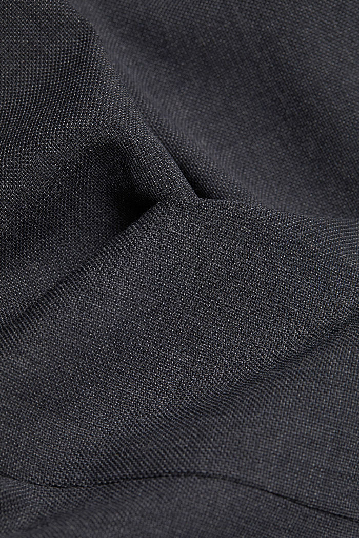 With wool: finely textured jacket, DARK GREY, detail image number 4