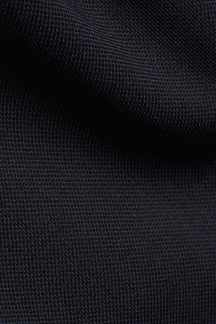 With wool: finely textured jacket, DARK BLUE, detail image number 4