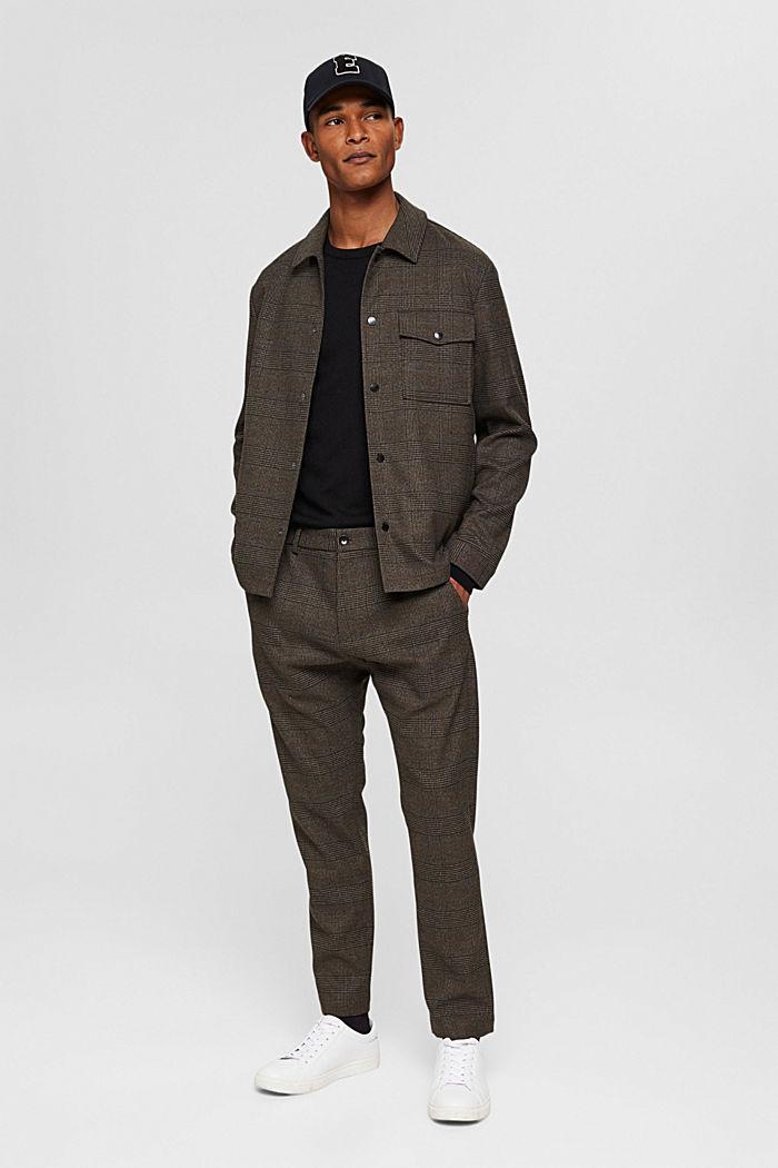 Made of 100% merino wool: crewneck jumper, BLACK, detail image number 1