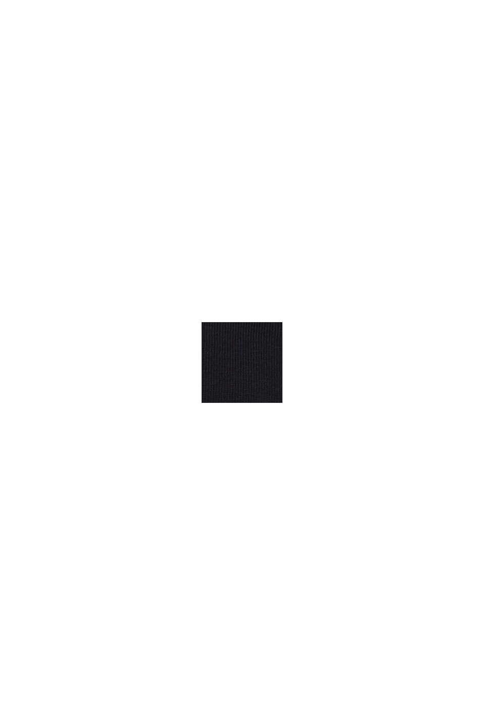 Ze 100% vlny merino: svetr s kulatým výstřihem, BLACK, swatch