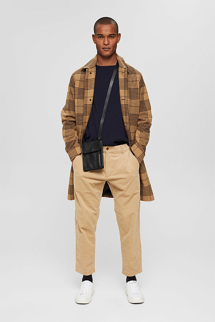 Made of 100% merino wool: crewneck jumper, NAVY, detail image number 1