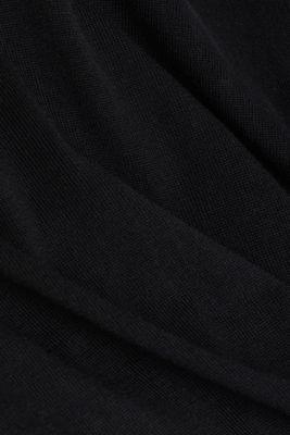 Cardigan made of 100% wool, BLACK, detail