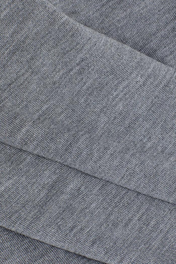 Merinovillaa: vetoketjullinen neuletakki, GREY, detail image number 4