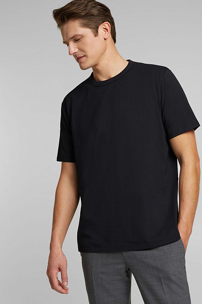#ReimagineFlexibility: COOLMAX® jersey T-shirt, BLACK, detail image number 0