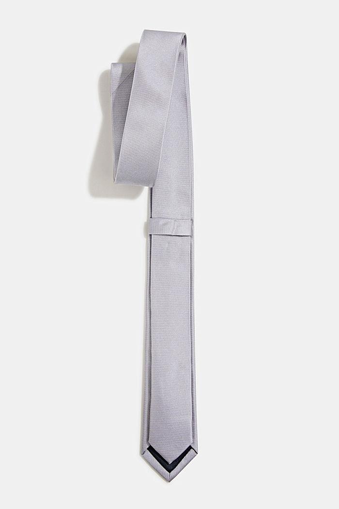100% Seide: Krawatte mit Struktur, GREY, detail image number 2