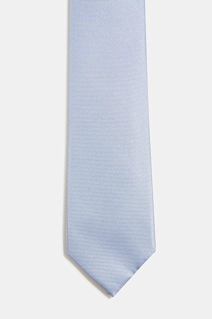 100% seda: corbata con textura, LIGHT BLUE, detail image number 0
