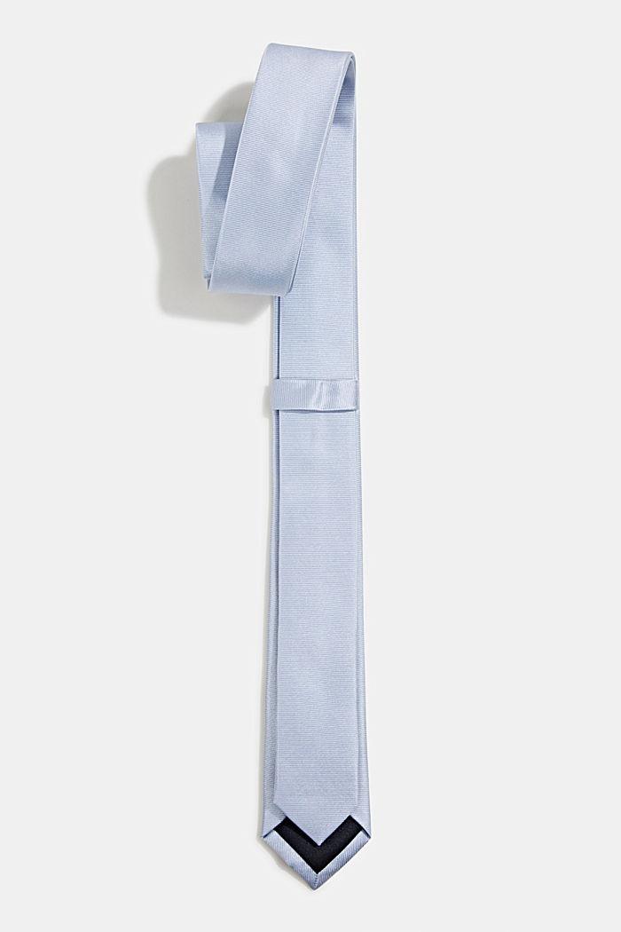 100% seda: corbata con textura, LIGHT BLUE, detail image number 2