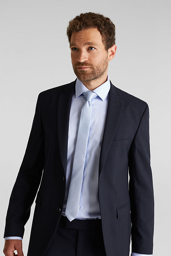 100% seda: corbata con textura, LIGHT BLUE, detail image number 1