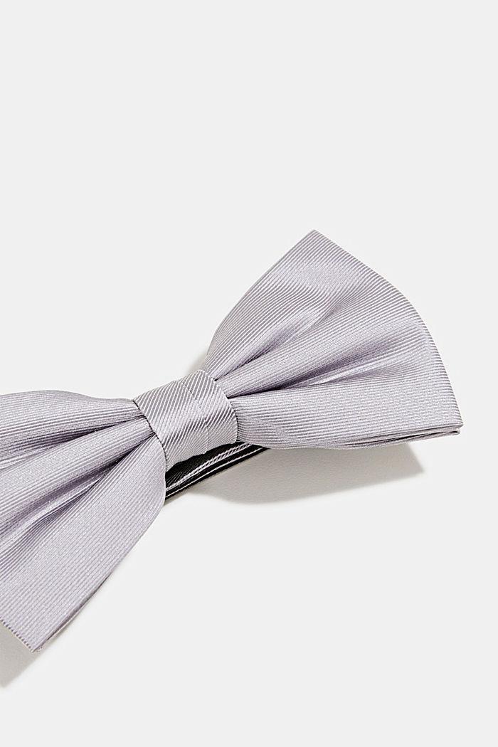 Vlinderstrik van 100% zijde, GREY, detail image number 2