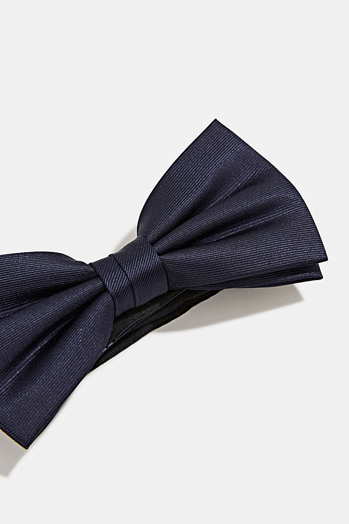 Bow tie made of 100% silk, DARK BLUE, detail image number 2