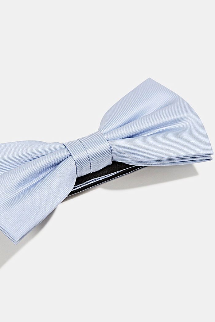 Bow tie made of 100% silk, LIGHT BLUE, detail image number 2
