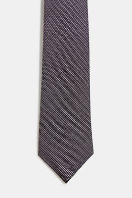 100% silk: Tie with texture, BLACK, detail
