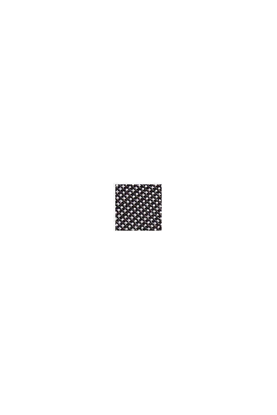 100% soie: cravate texturée, BLACK, swatch