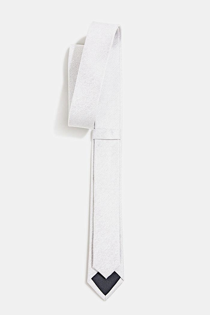 100% seda: corbata con textura, GREY, detail image number 2