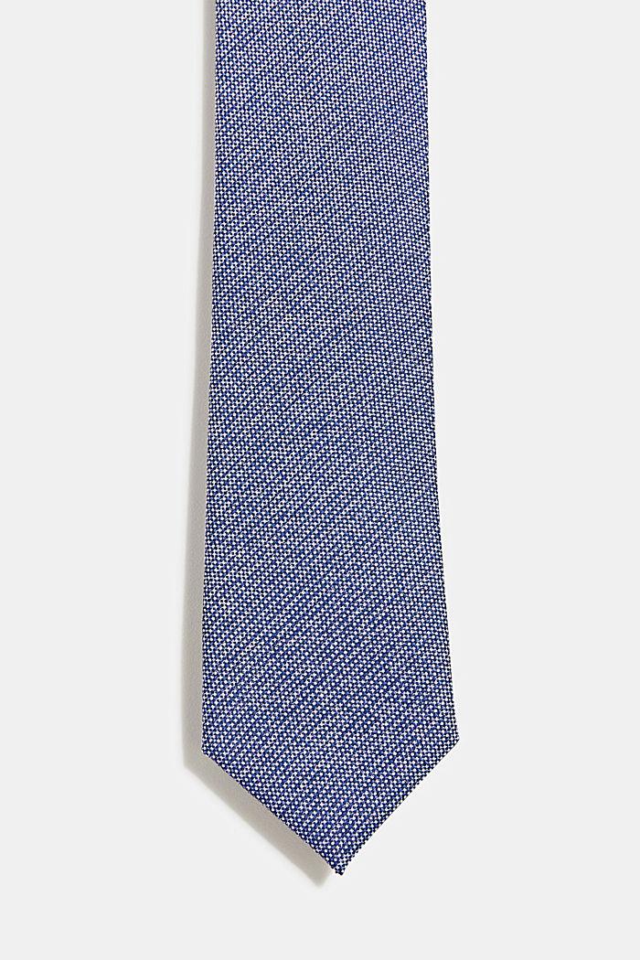 100% silk: Tie with texture, DARK BLUE, detail image number 0