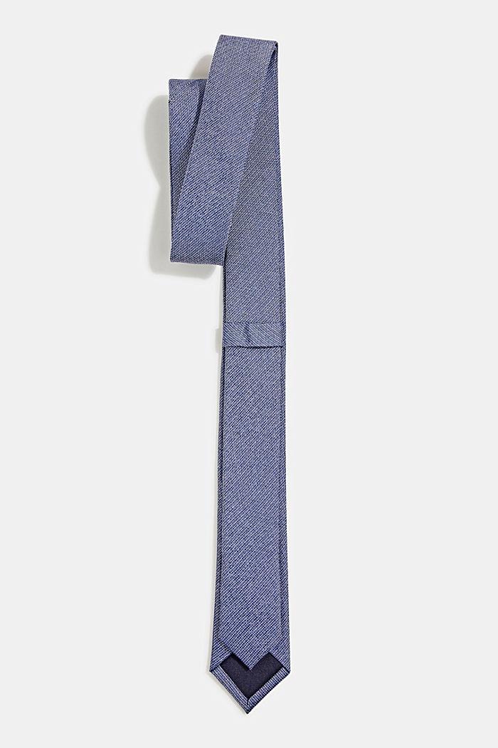 100% silk: Tie with texture, DARK BLUE, detail image number 2