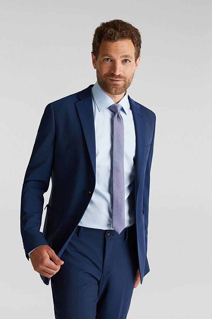 100% silk: Tie with texture, DARK BLUE, detail image number 1