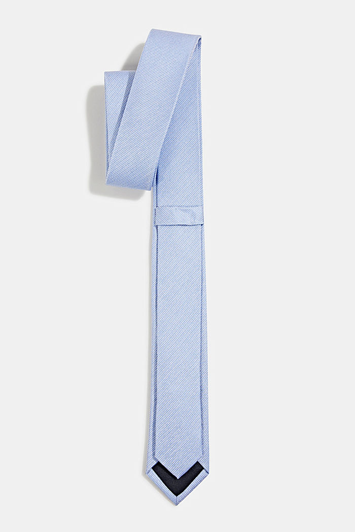 100% silk: Tie with texture, LIGHT BLUE, detail image number 2
