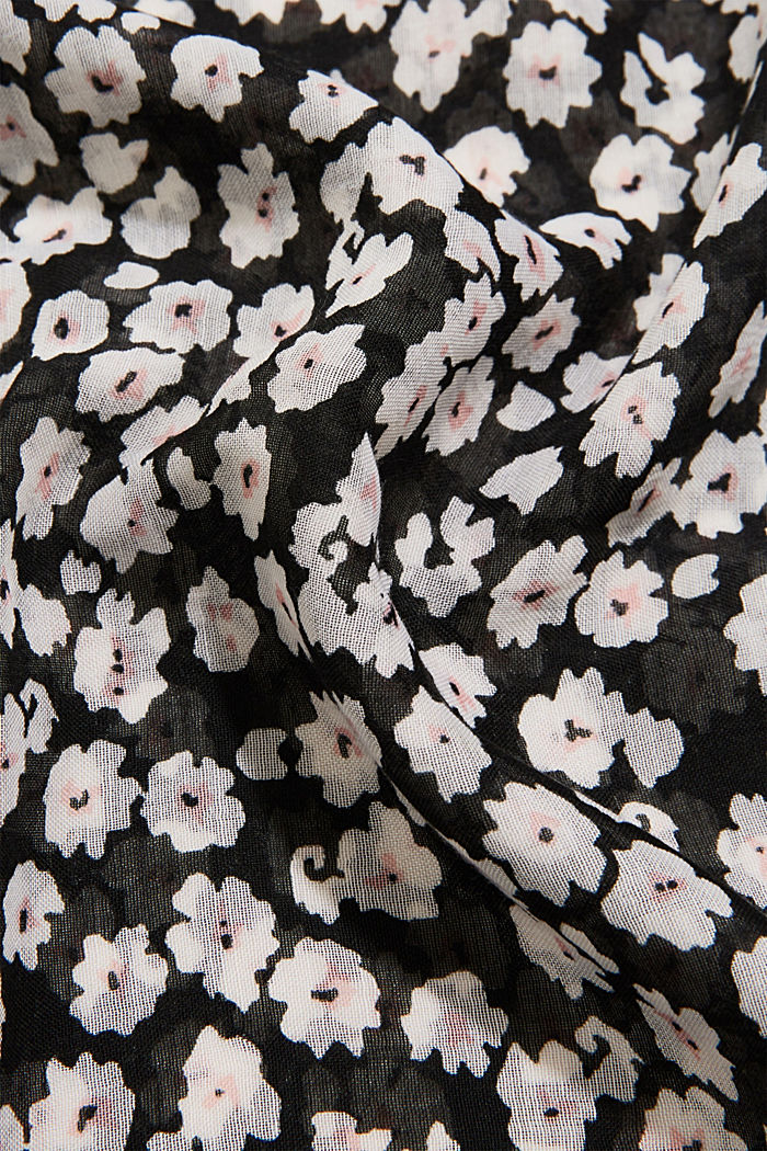 Recycled: floral snood, BLACK, detail image number 2