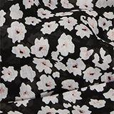 Recycelt: Loop-Schal mit Blumen-Muster, BLACK, swatch