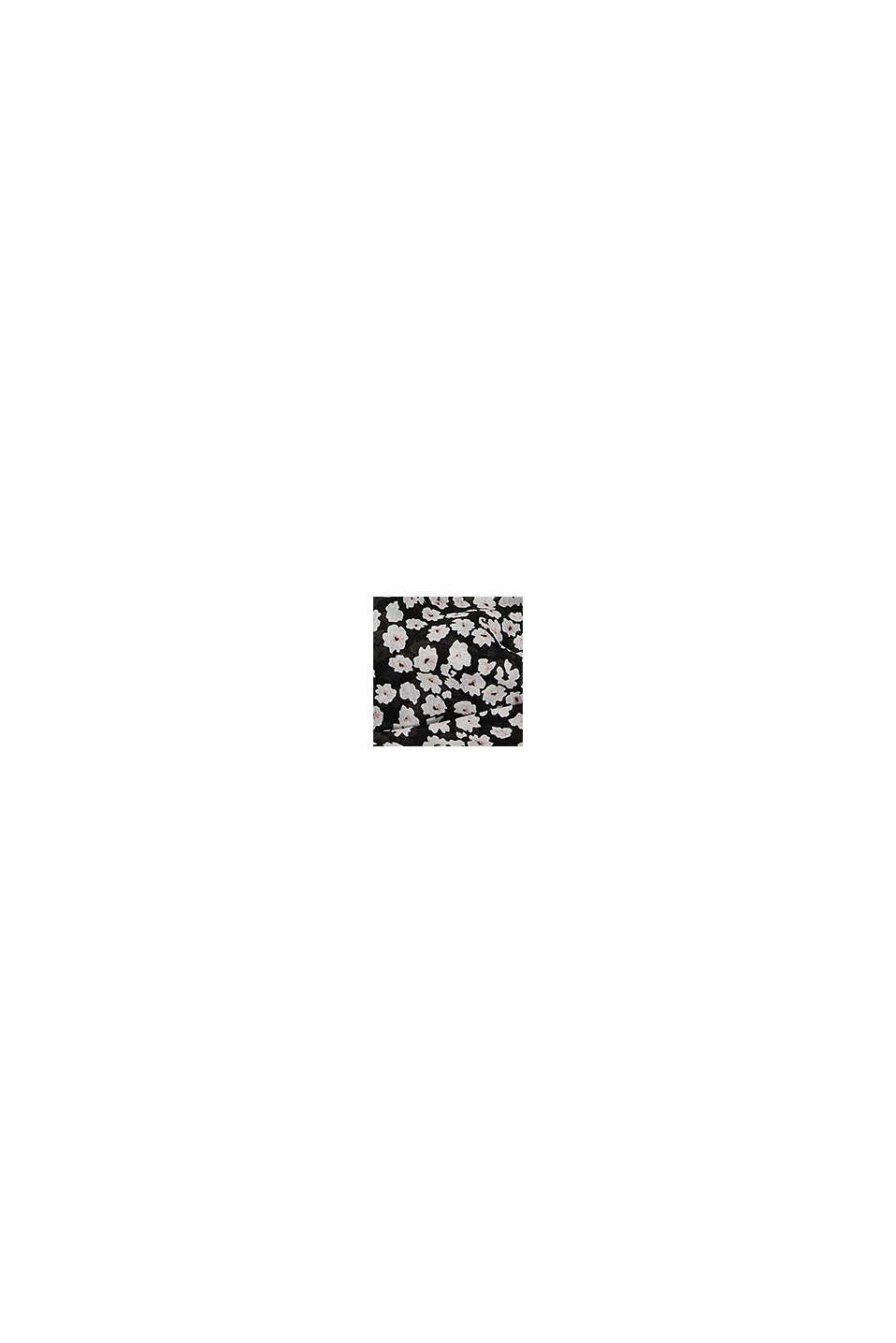 Kierrätettyä: Kukkakuvioitu tuubihuivi, BLACK, swatch