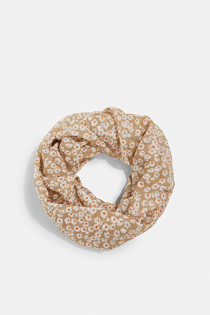 Recycled: floral snood, BEIGE, detail image number 0