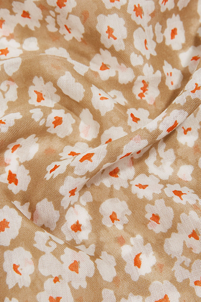 Recycled: floral snood, BEIGE, detail image number 2