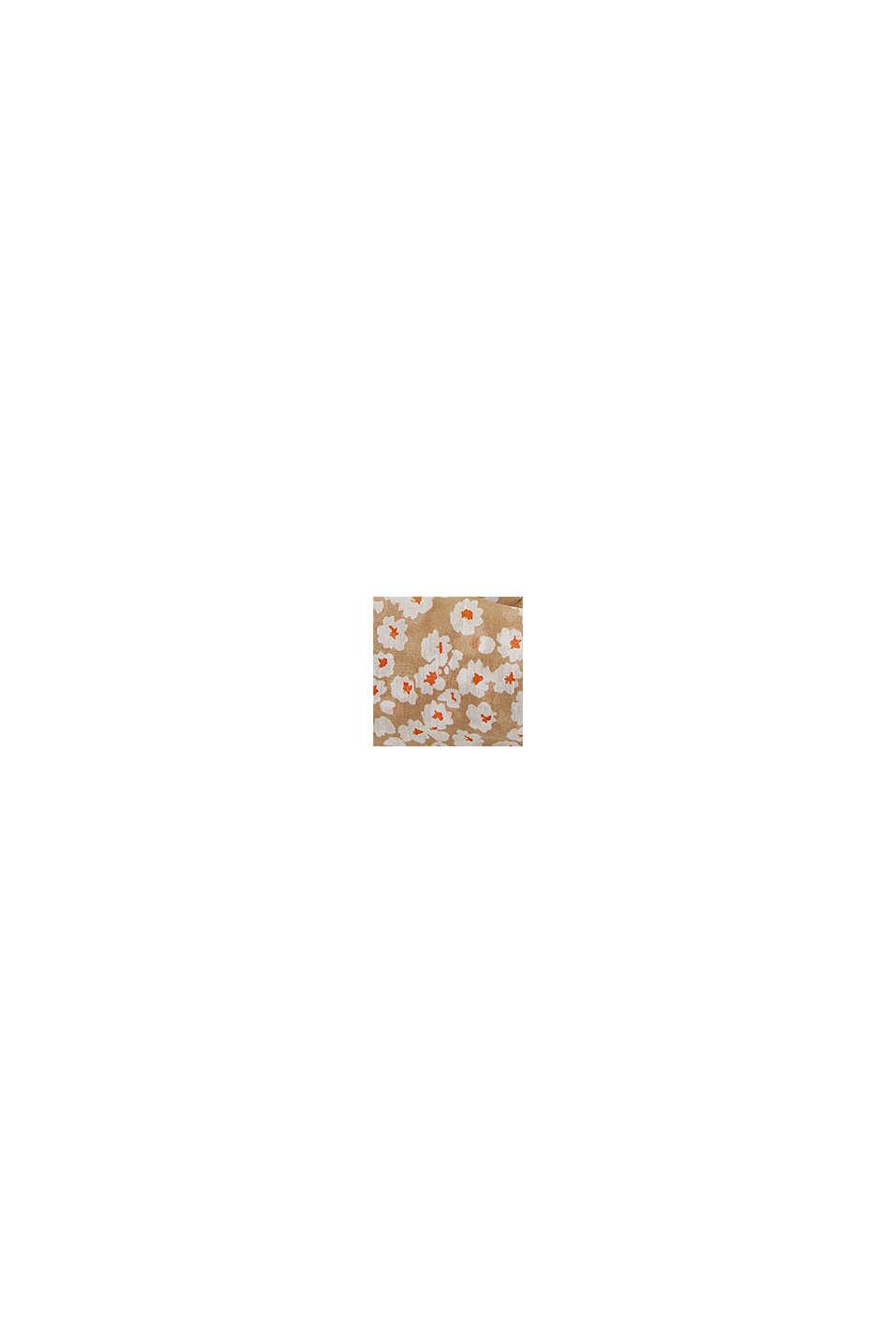 Kierrätettyä: Kukkakuvioitu tuubihuivi, BEIGE, swatch