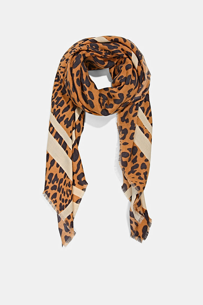 Recycled: leopard pattern scarf
