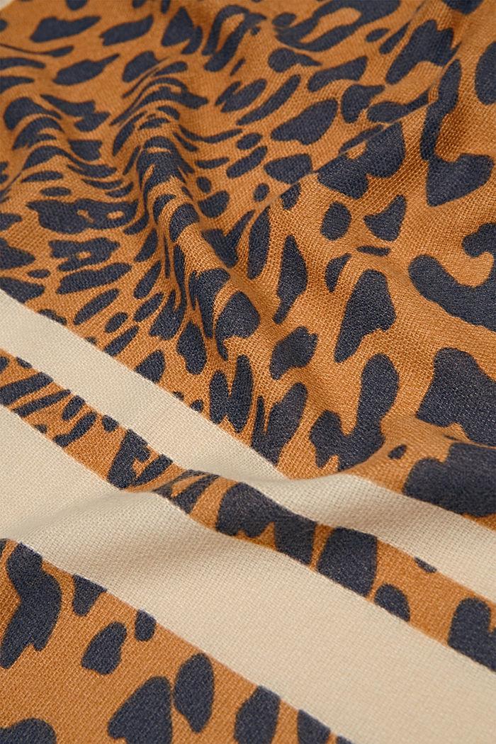 Gerecycled: sjaal met luipaardlook, BARK, detail image number 2
