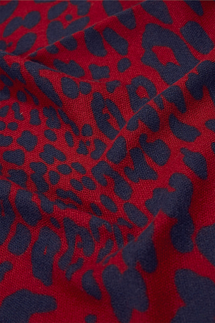In materiale riciclato: foulard leopardato, DARK RED, detail image number 2