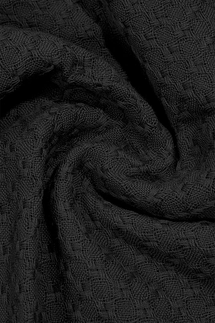Shawls/Scarves, BLACK, detail image number 3