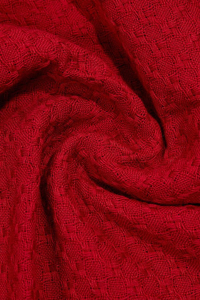 Shawls/Scarves, DARK RED, detail image number 2