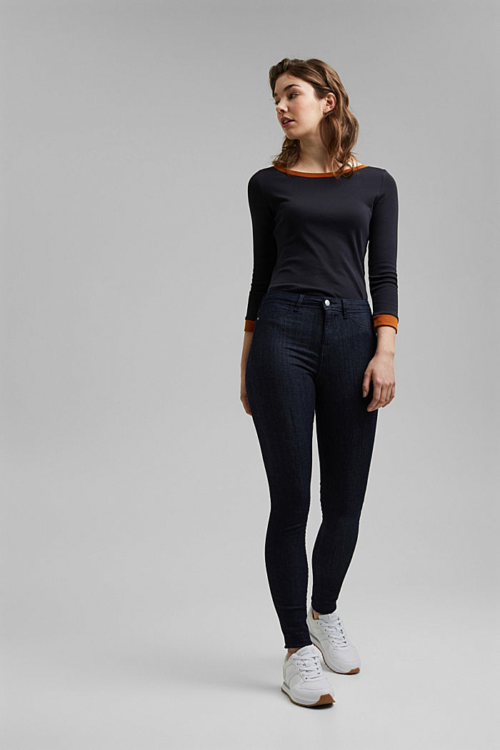 Organic cotton blend jeggings, BLUE RINSE, detail image number 1