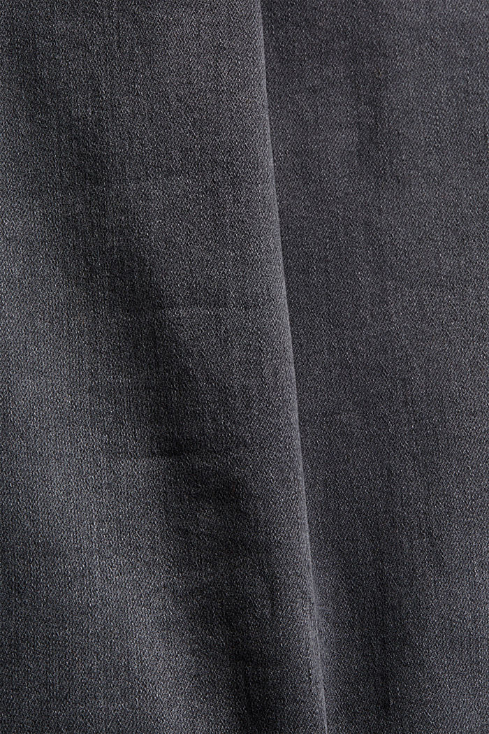 Organic cotton blend jeggings, GREY DARK WASHED, detail image number 4