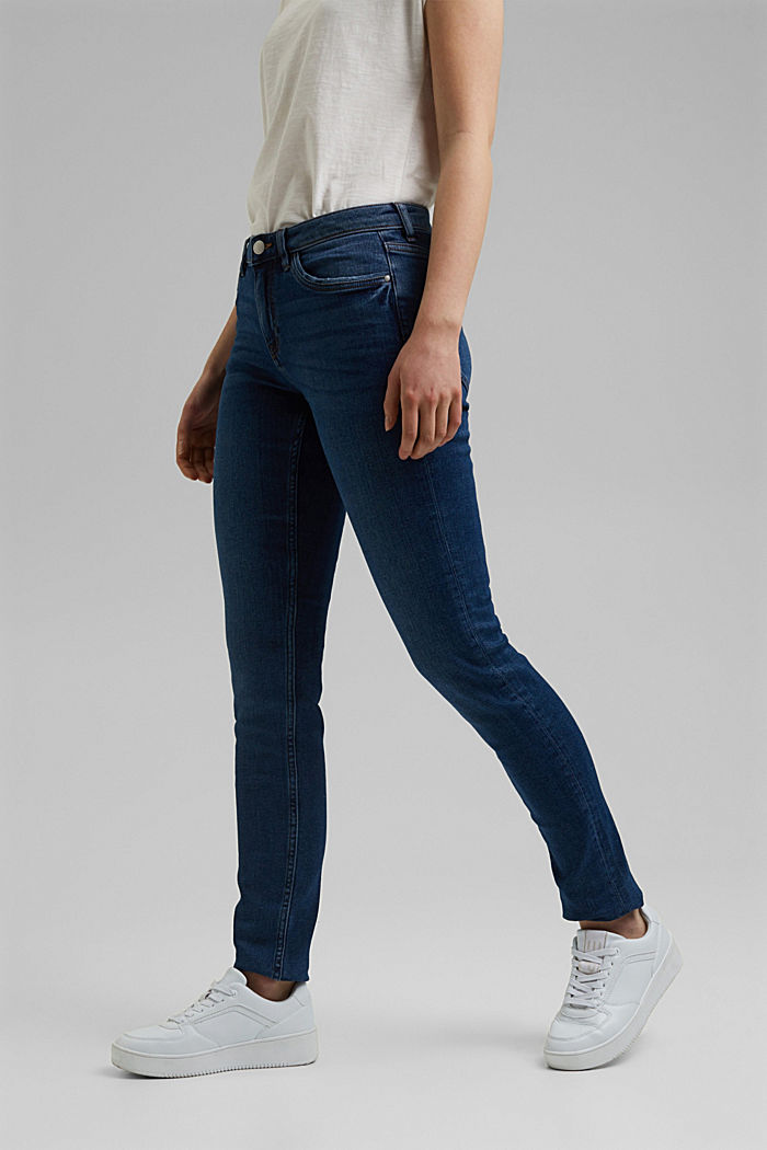 Stretch-Denim mit Organic Cotton, BLUE DARK WASHED, detail image number 0