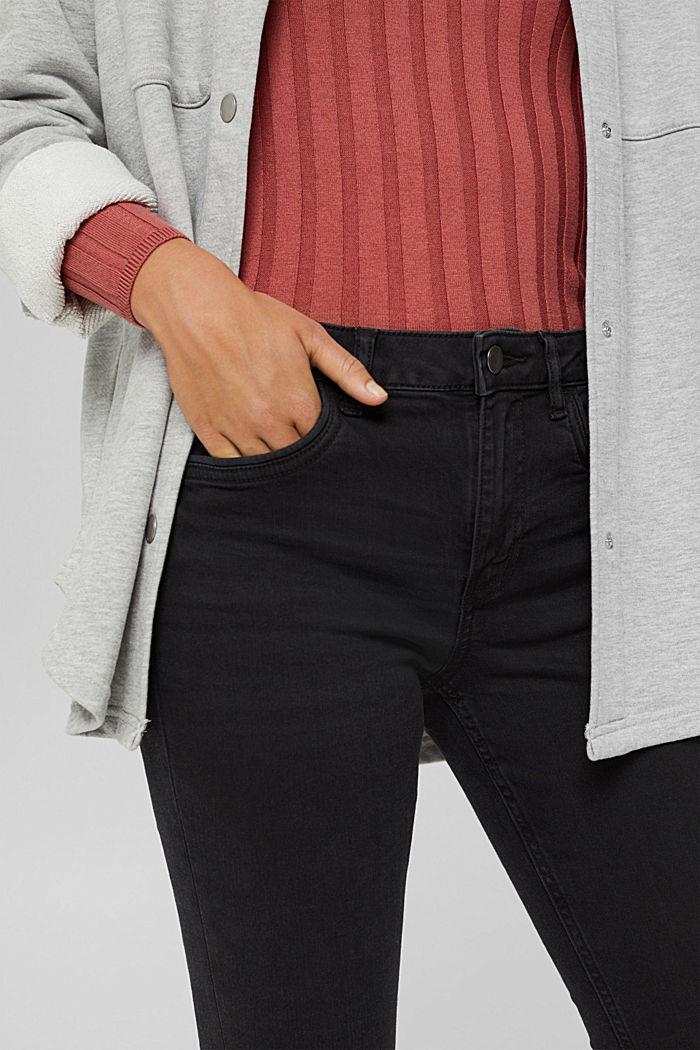 Jean stretch en coton biologique mélangé, BLACK DARK WASHED, detail image number 0