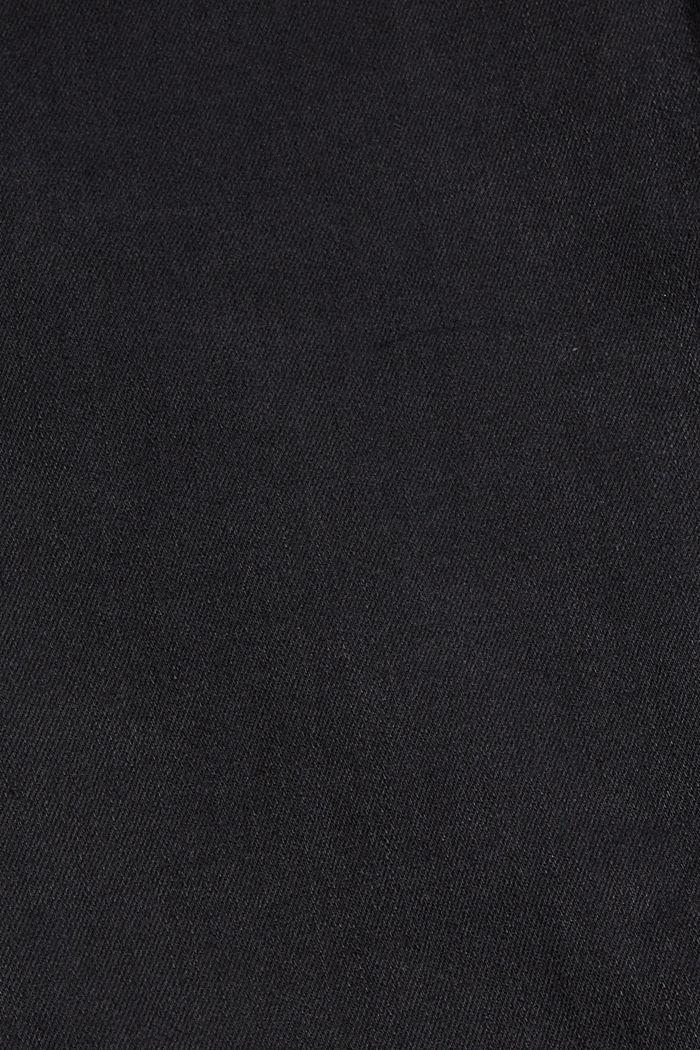 Jean stretch en coton biologique mélangé, BLACK DARK WASHED, detail image number 3