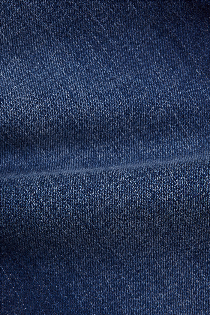 Capri jeans made of organic cotton, BLUE DARK WASHED, detail image number 4