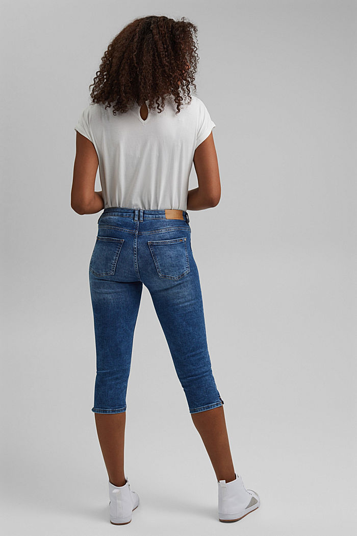 Capri jeans made of organic cotton, BLUE MEDIUM WASHED, detail image number 3