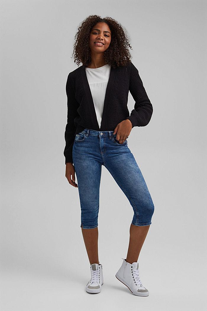 Capri-jeans van organic cotton, BLUE MEDIUM WASHED, detail image number 1