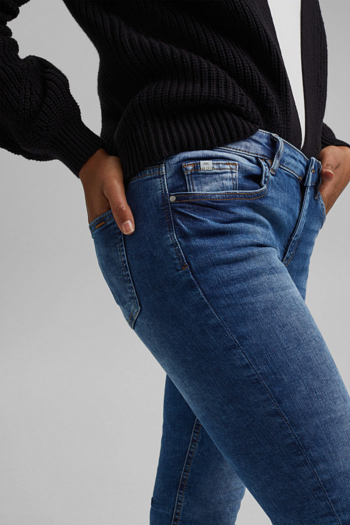 Capri jeans made of organic cotton, BLUE MEDIUM WASHED, detail image number 2