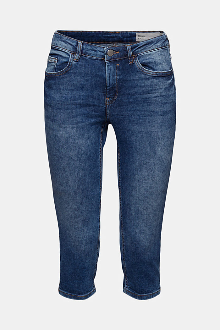 Capri jeans made of organic cotton, BLUE MEDIUM WASHED, detail image number 7