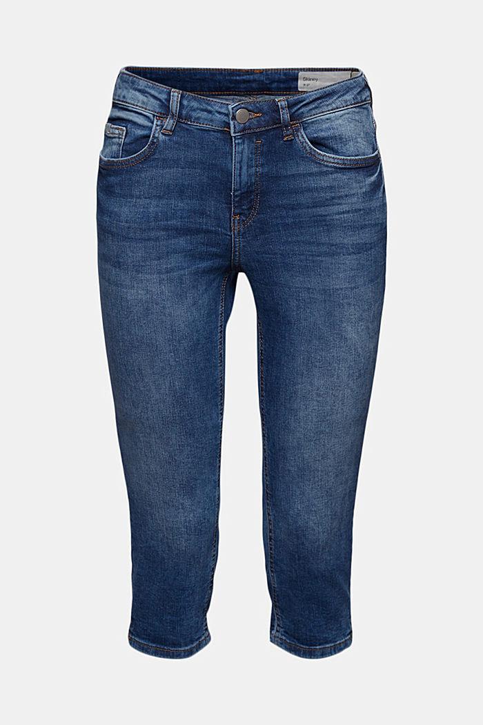 Capri-jeans van organic cotton, BLUE MEDIUM WASHED, detail image number 7
