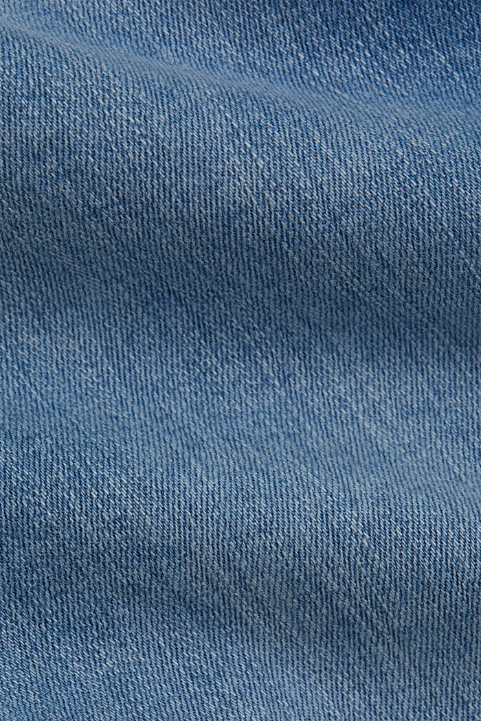 Capri jeans made of organic cotton, BLUE LIGHT WASHED, detail image number 4