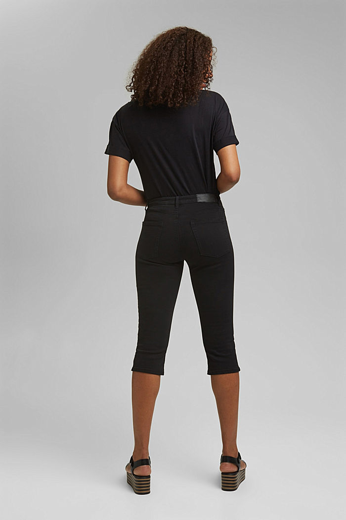 Organic cotton capri trousers, BLACK, detail image number 3