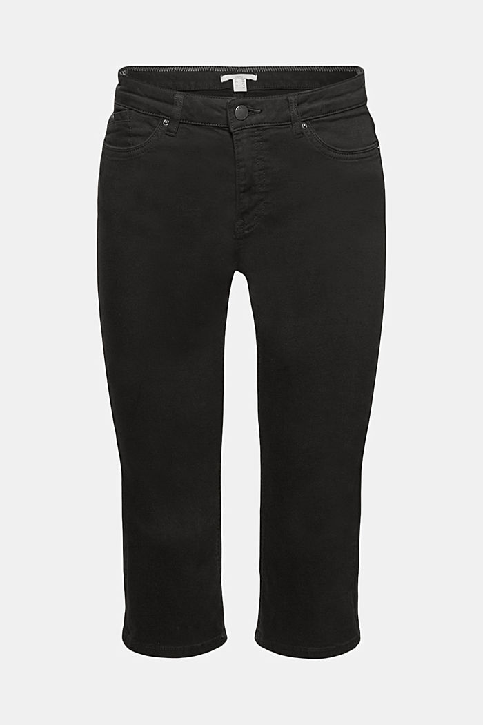 Organic cotton capri trousers, BLACK, detail image number 7