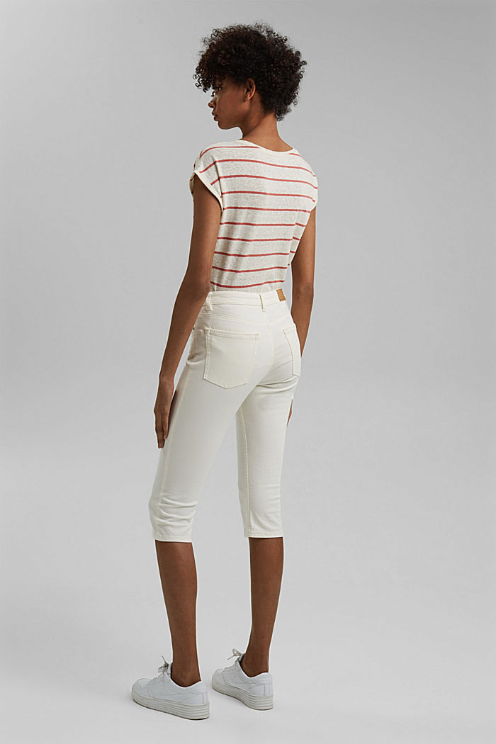 Organic cotton capri trousers, WHITE, detail image number 3