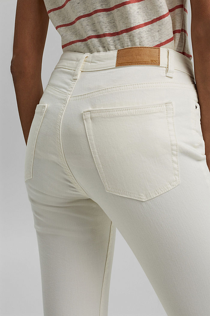 Organic cotton capri trousers, WHITE, detail image number 4