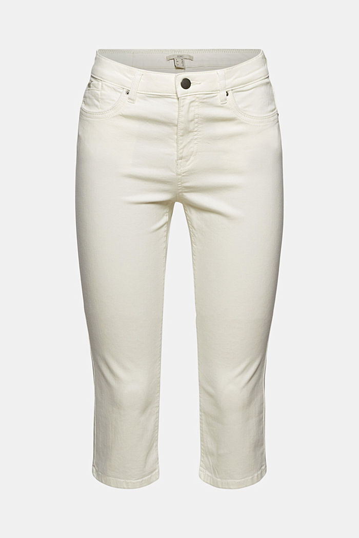 Organic cotton capri trousers, WHITE, detail image number 5